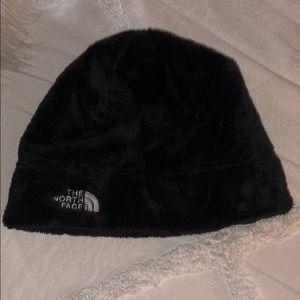 North Face faux fur beanie